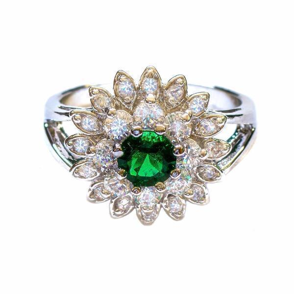 Jewelry - Aster Flower Gemstone Ring - Assorted Colours