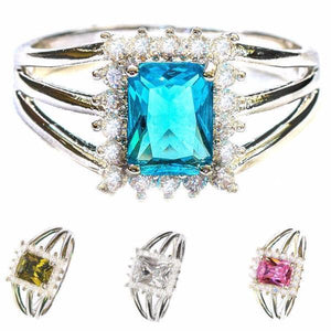 Jewelry - Elsa Emerald Cut Gemstone Ring - Assorted Colors