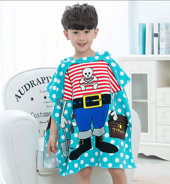Kids Hooded Poncho Bath Towel