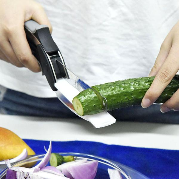 Kitchen - 2-in-1 Knife And Cutting Board Smart Chopper