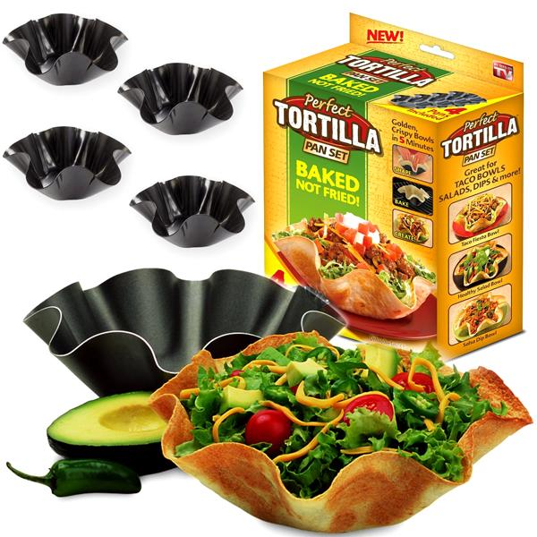 Kitchen - 4 Pack: Perfect Tortilla Baking Pan Set