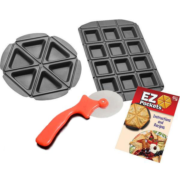 Kitchen - EZ Pockets: 4-Piece Non-Stick Steel Baking Kit
