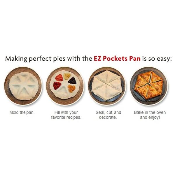 Kitchen - EZ Pockets: Non-Stick Steel Baking Kit - 3 Or 4-Piece Sets Available!