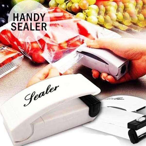 6 Piece, 12 Piece, or 24 Piece Portable Compact Bag Sealer With Easy Store Fridge Magnet