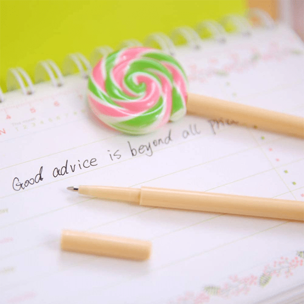 4 Piece: Colorful Lollipop Shape Ballpoint Pen