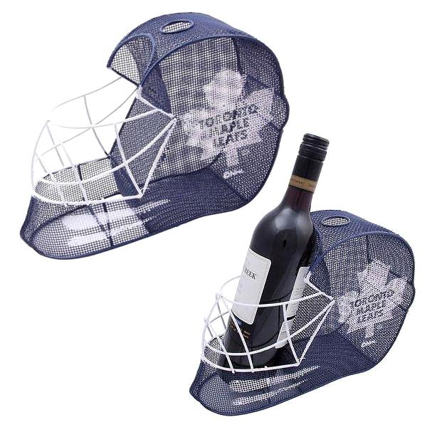 NHL - Toronto Maple Leafs Officially Licensed Goalie Helmet Bottle And Cork Cage Holder