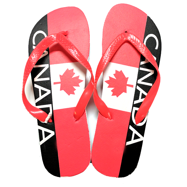 Outdoor - Canadian Flag Style Flip Flops - Assorted Sizes