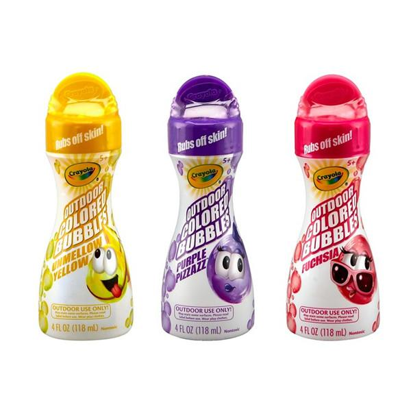 Outdoor - Crayola Outdoor Coloured Bubbles - 3 Colours Available!