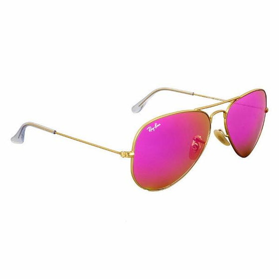 Outdoor - Ray-Ban Aviator Cyclamen Flash Sunglasses