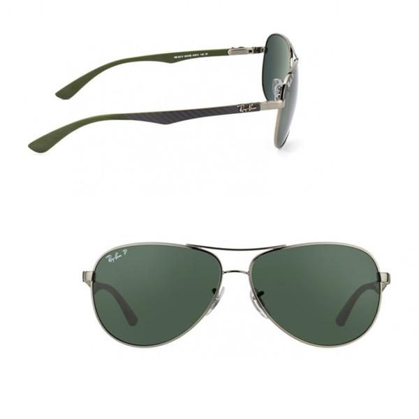 Outdoor - Ray-Ban Classic Green Carbon Fibre Polarized Sunglasses