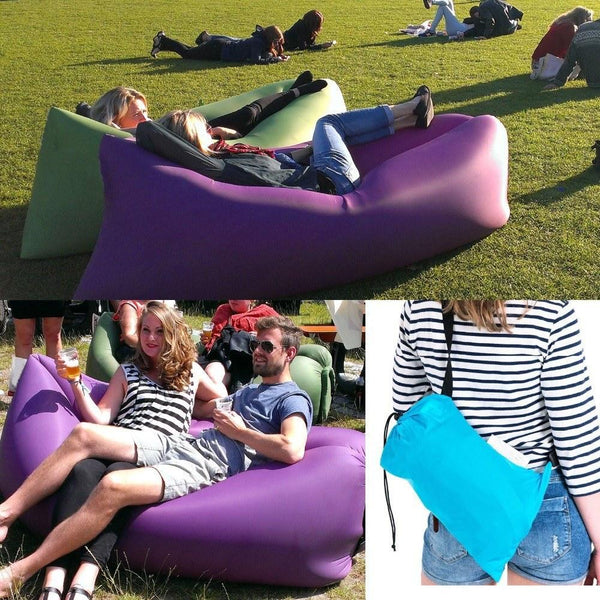 Outdoors - Inflatable Hangout Lounger - Assorted Colours