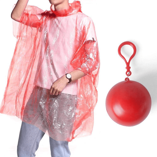 BUY MORE, SAVE MORE! Disposable Rain Poncho Ball - Available in 2 Pack & 4 Pack!
