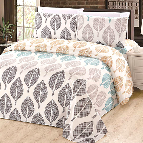 Patterned Bamboo Blended Bed Sheet Set