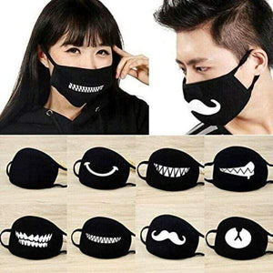 3 Pieces Unisex 3D Print Cartoon Pattern Cotton Face Masks