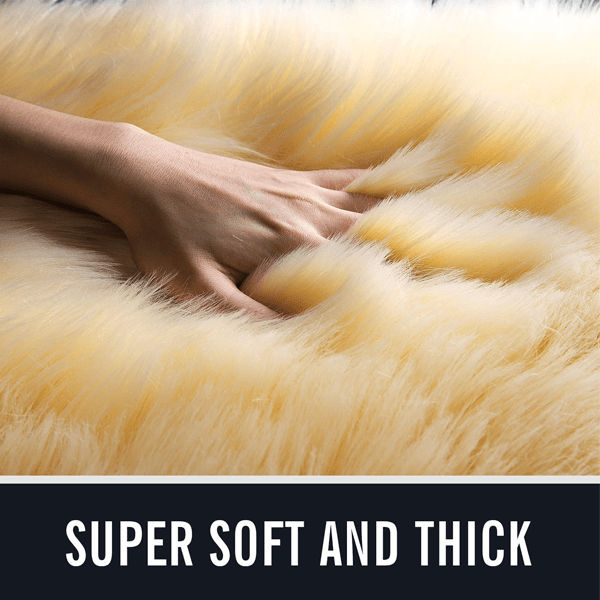 Light Brown Luxury Sheepskin Area Rugs