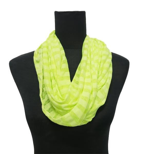 Striped Infinity Loop Scarf