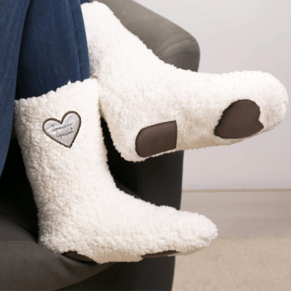 Cozy Sherpa Slippers with Anti-Slip Fabric Bottom
