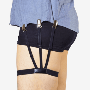 """Elasticated Shirt Grip"" Shirt Suspender Stay Tucked In"