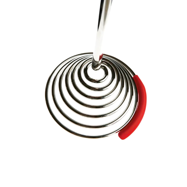 One-Press Spring Food Masher Whisk With Silicone Pot Scraper