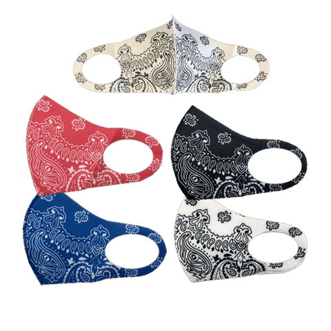 3 Pack: Spandex Paisley Fashion Mask