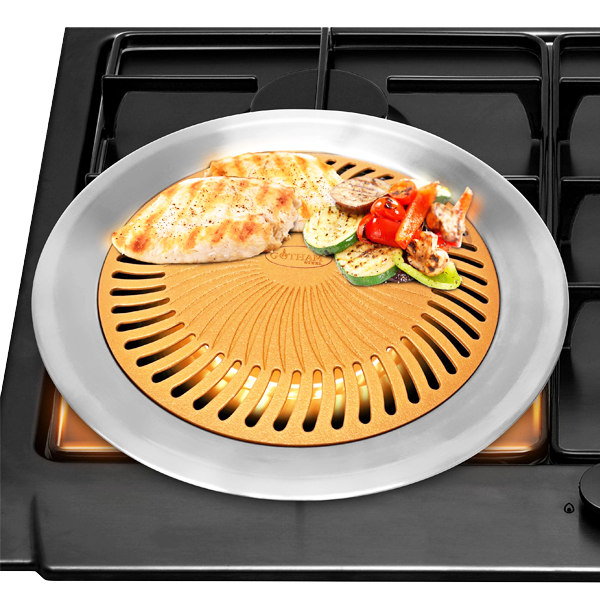 2-Piece Set High-Quality Non-Stick Stovetop Barbecue Grill