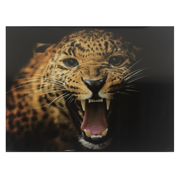 """Fierce Tiger"" Metal Wall Decor Art With Pre-Drilled Holes"
