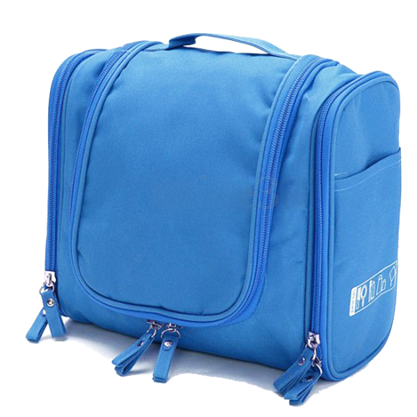 The Ultimate Toiletry & Cosmetics Travel Bag With 3-Compartments & Built-In Hanging Hook