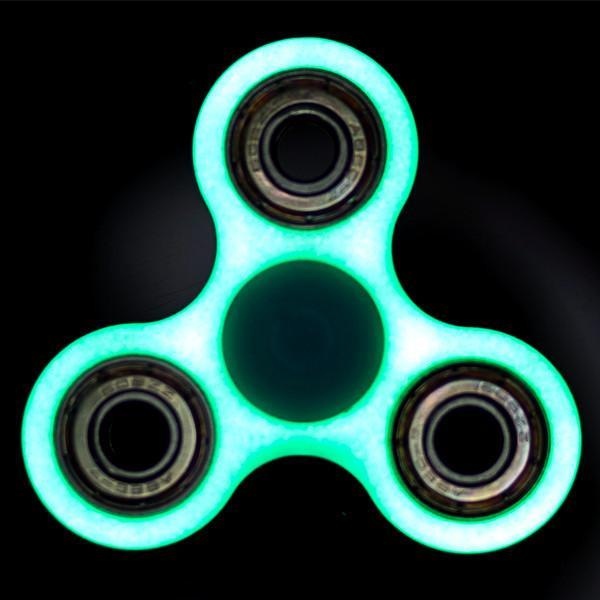 Toys - 2 Pack: Fluorescent Glow-in-the-Dark Fidget Spinner