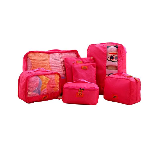 Travel - Deluxe 7-Piece Water-Resistant Travel Bags And Luggage Organizer Set - Assorted Colors