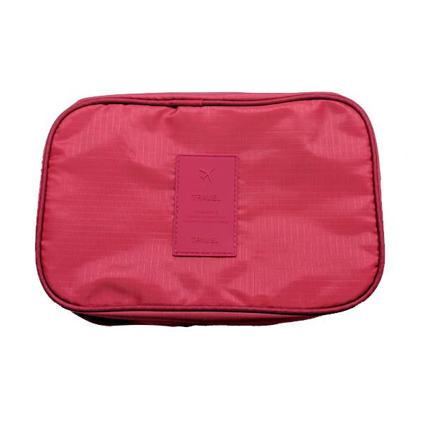 Travel - Water-Resistant Zippered Hanging Toiletry Bag With Removable Pouch & Built-In Hook