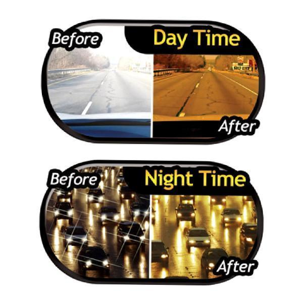 Deluxe HD Day and Night Anti-Glare Vehicle Visor