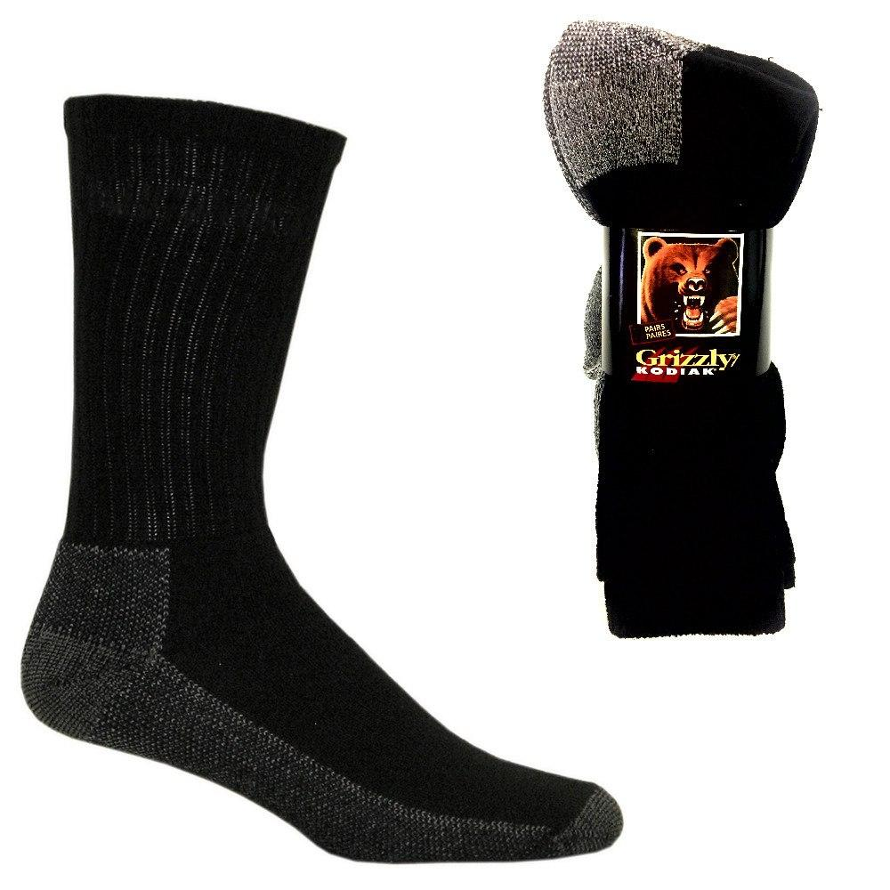 WINTER WEAR - 3 Pairs Grizzly Kodiak Socks - Men's Crew Socks