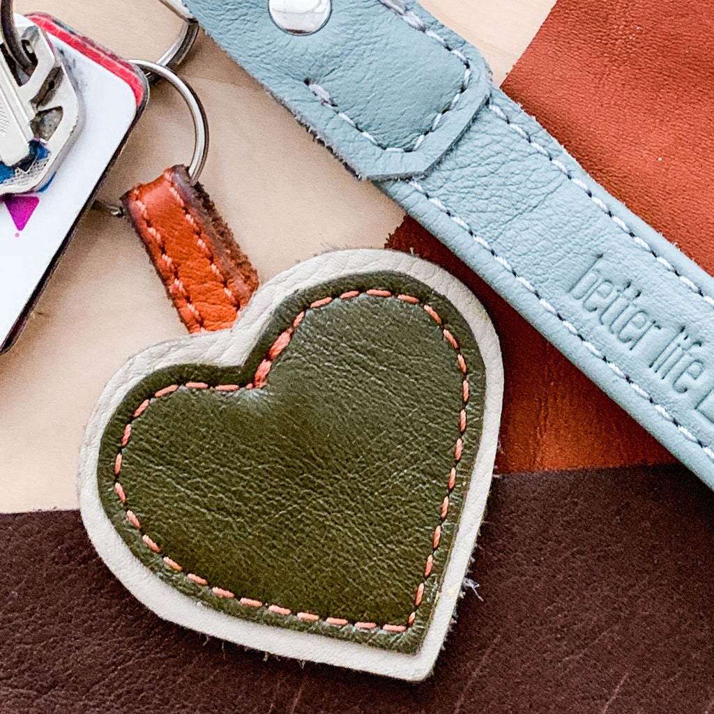 Heart Keychain - Various Colors