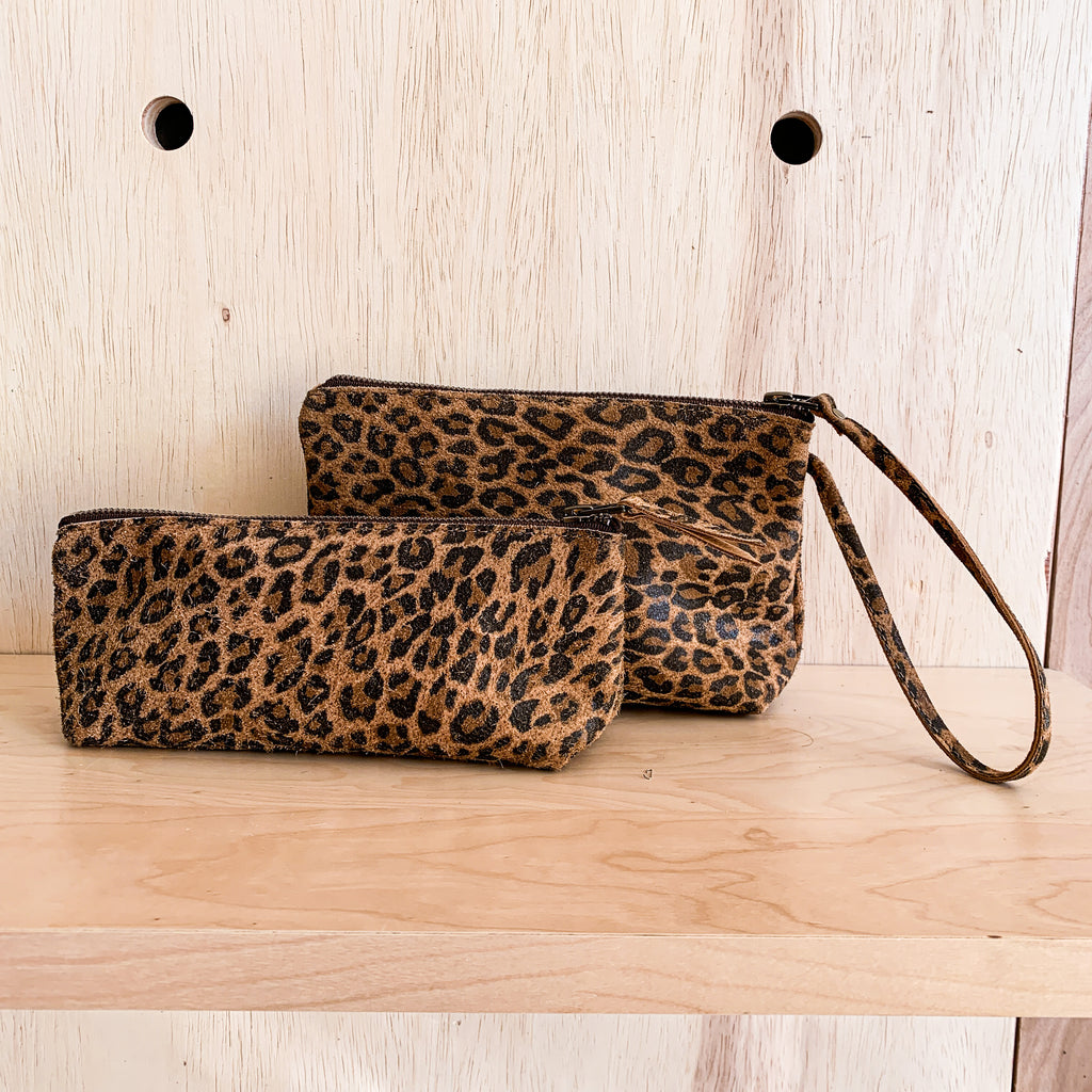 Pouch Set - Leopard Leather (Ships by 6/29)