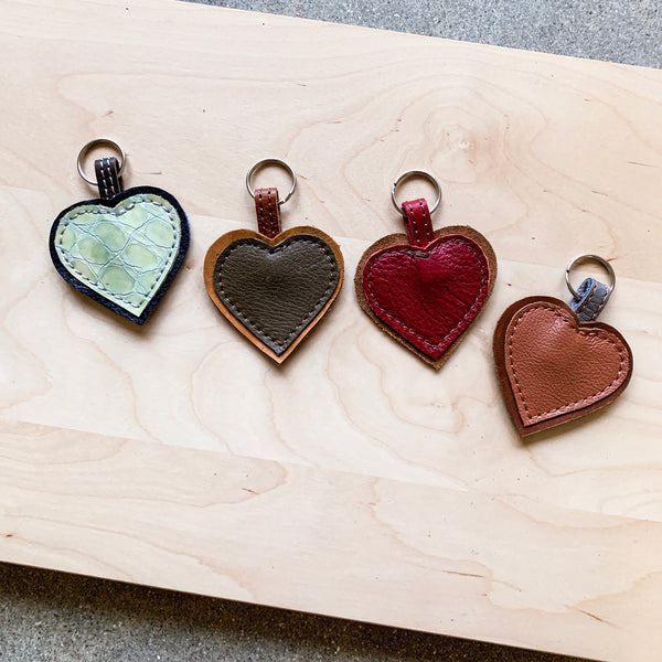 Leather Heart Keychains - Buy 3 Get One FREE