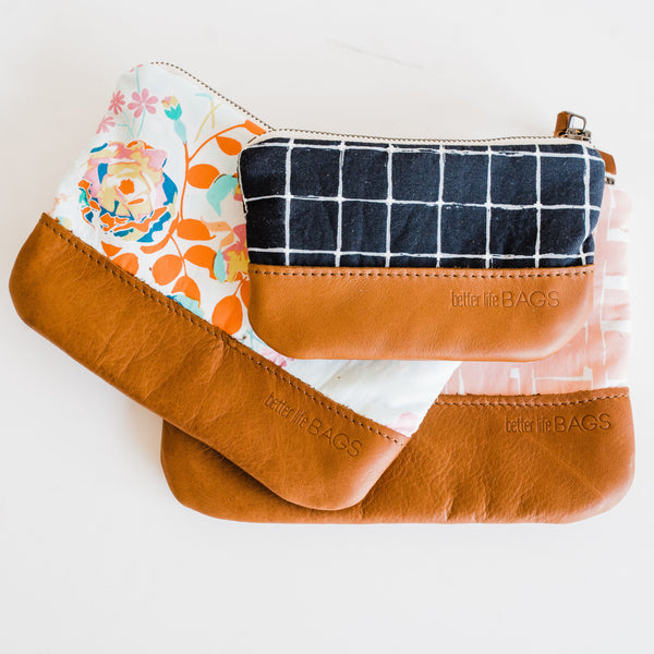 Nesting Pouches with Leather - Design Your Own (Ships by 6/21)