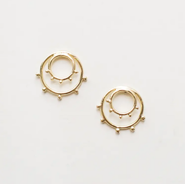 Sunburst Studs Gold