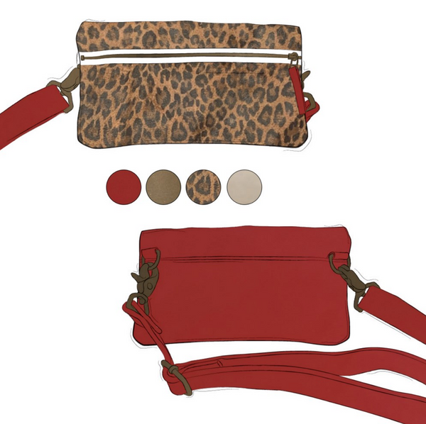 Fanny - Leopard and Smitten Red Leather (Ships by 6/29)