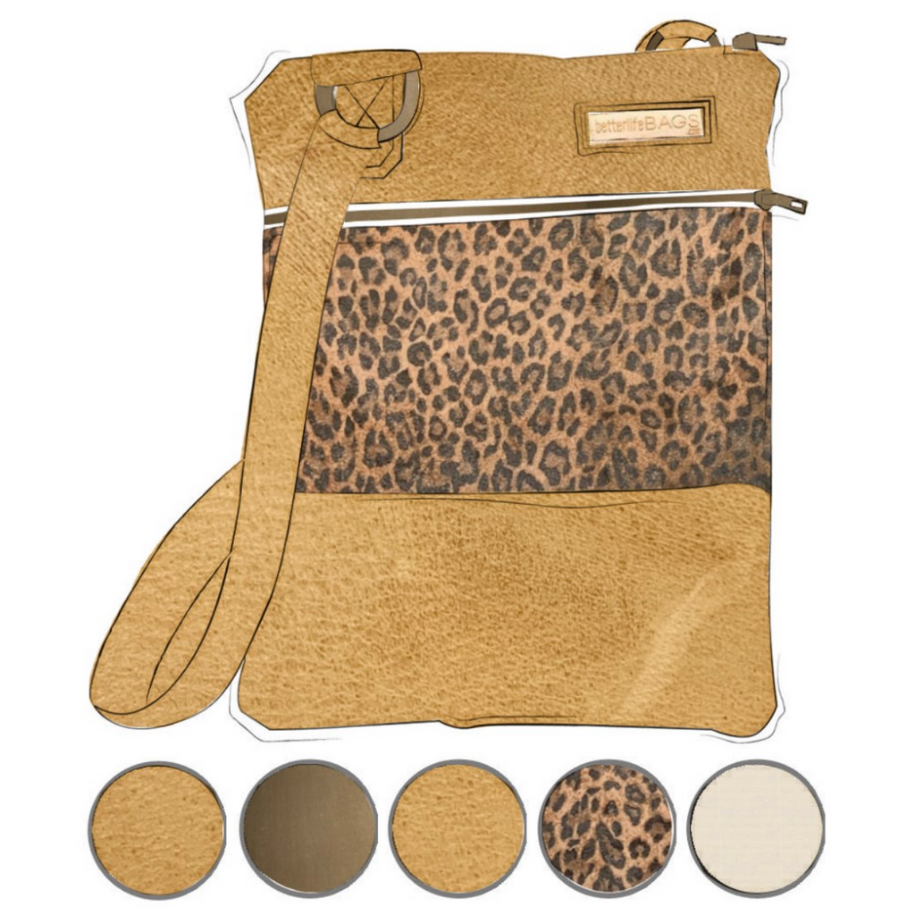 Mini - Leopard and Camel Leather (Ships by 6/22)