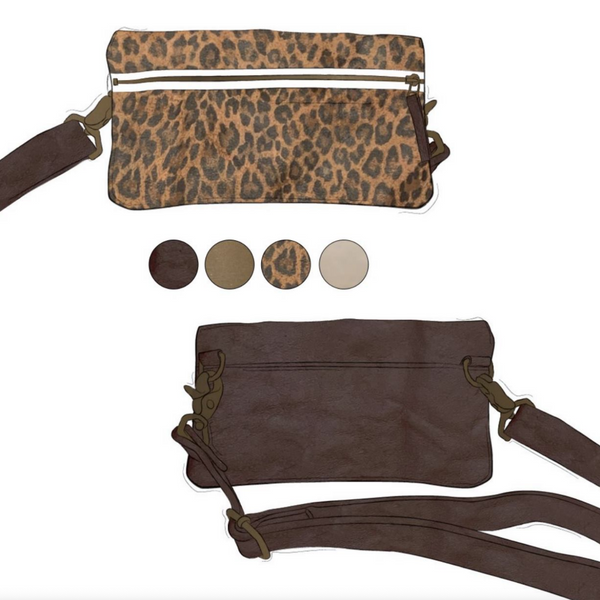 Fanny - Leopard and Brown Leather (Ships by 6/29)