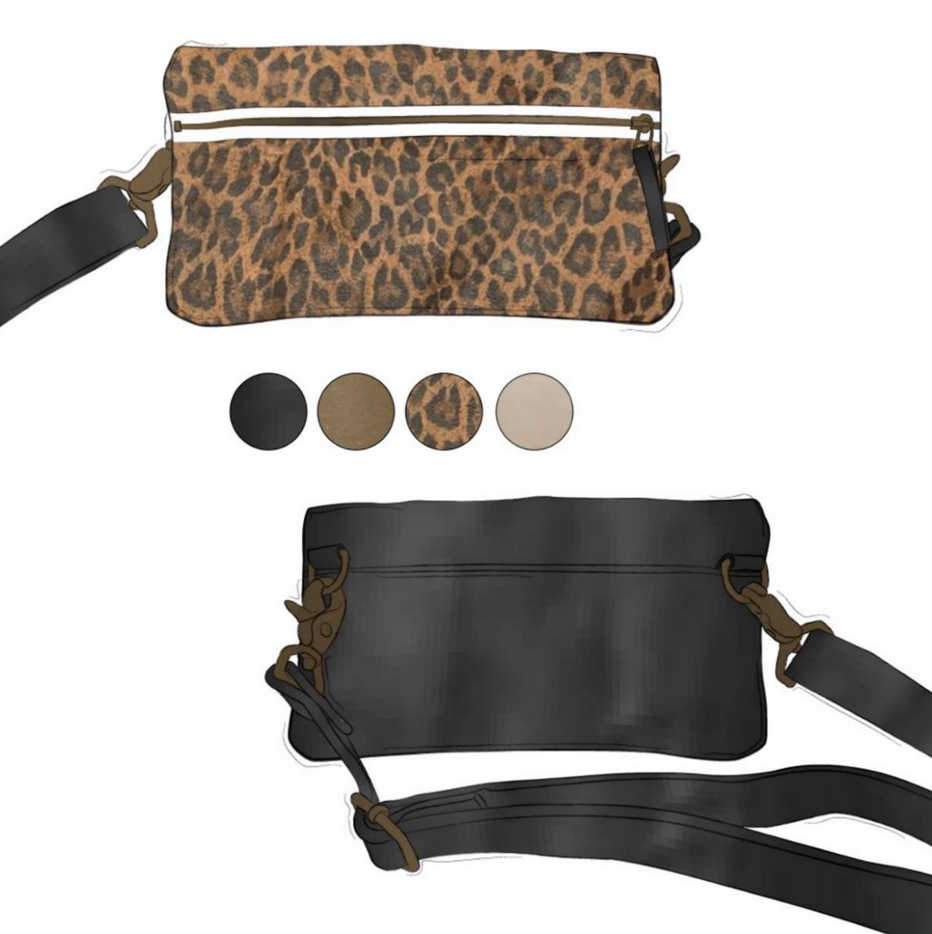 Fanny - Leopard and Black Leather (Ships by 6/29)