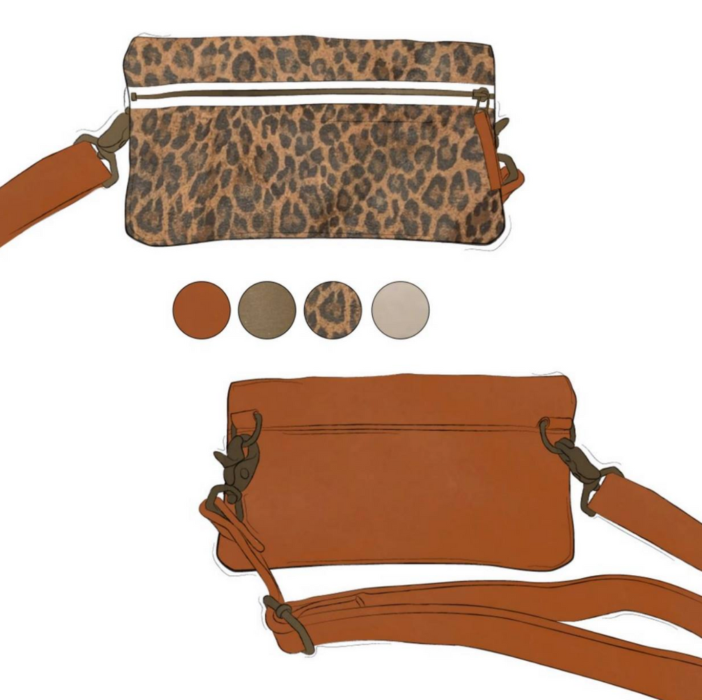 Fanny - Leopard and Cinnamon Leather (Ships by 6/29)