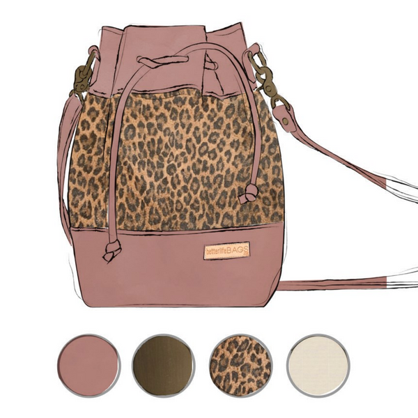 Heather - Leopard and Darling Pink Leather (Ships by 6/29)