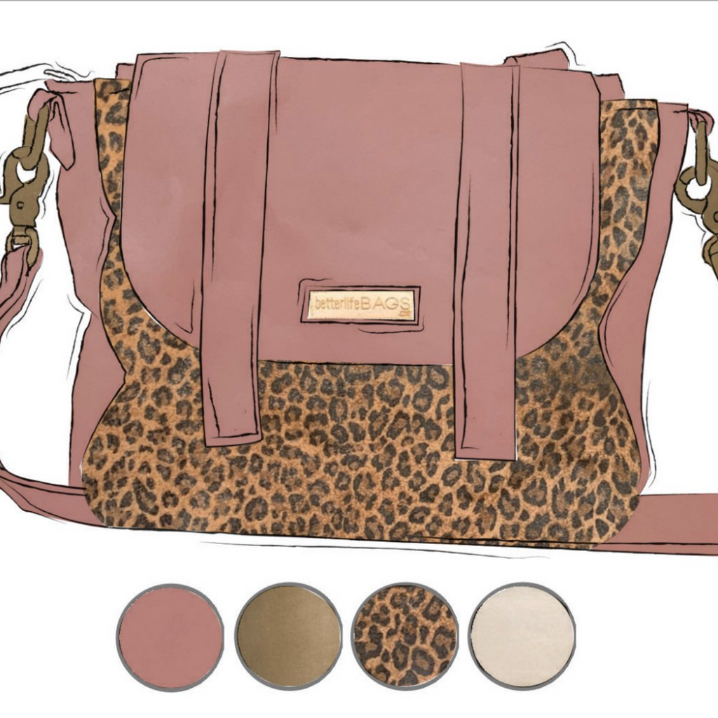 Scout - Leopard and Darling Pink Leather (Ships by 6/22)