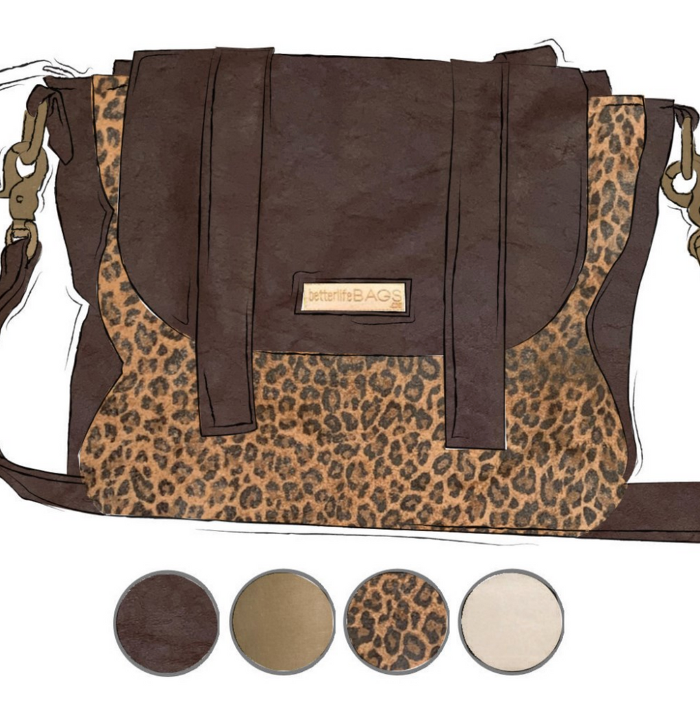 Scout - Leopard and Dark Brown Leather (Ships by 6/22)