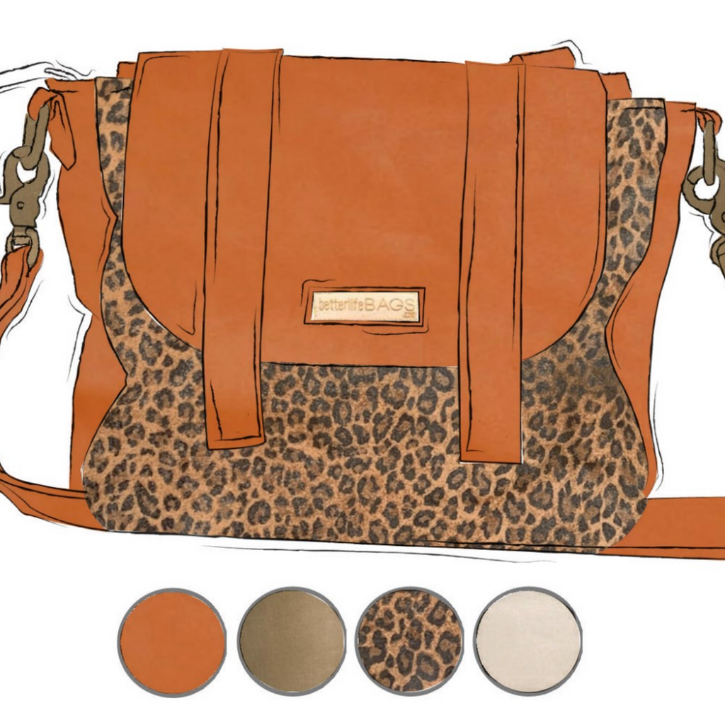 Scout - Leopard and Cinnamon Leather (Ships by 6/22)