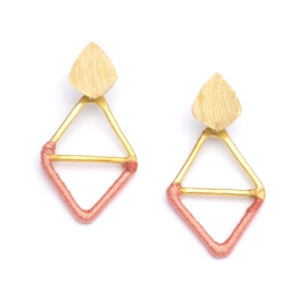 Kaia Earrings - Pink Diamond