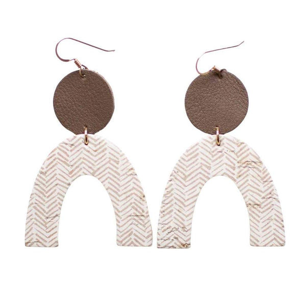 Rory Earring - Soft Taupe