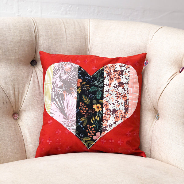BLB Pillow - Linen + Love Heart