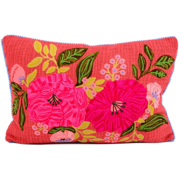 Embroidered Pillow - Flower Power